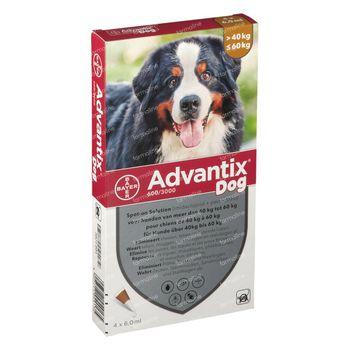 Advantix Spot-On 600/3000 Solution Chien 40<60KG 4x6 ml