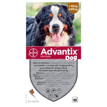 Advantix Spot-On 600/3000 Solution Chien 40<60KG 6x6 ml