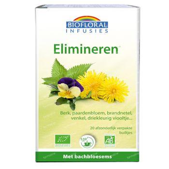 Biofloral Kruidenthee Elimineren - Afslanken en Draineren met Bachbloesems Bio 20 zakjes
