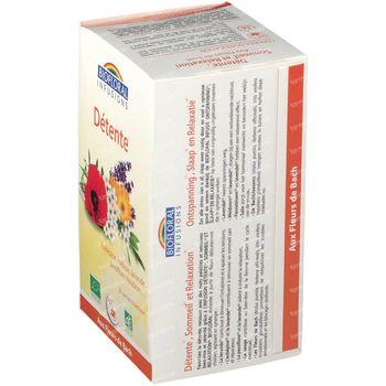 Biofloral Kruidenthee Ontspanning - Slaap en Relaxatie met Bachbloesems Bio 20 zakjes