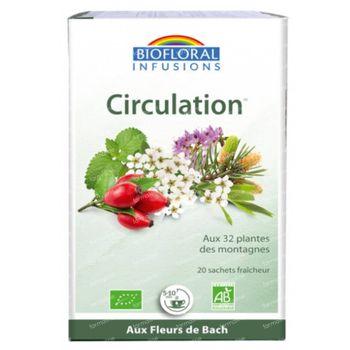 Biofloral Kruidenthee Circulatie - Welzijn met Bachbloesems Bio 20 zakjes