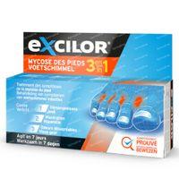 Excilor Voetschimmel 3-in-1 - Behandeling Verlicht Jeuk, Verweking en Onaangename Geuren 15 ml crème