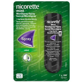 Nicorette® Mint Mondspray 1mg/Spray - pour Arrêter de Fumer 150 dosettes