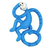 Matchstick Monkey Mini Anneau de Dentition Bleu Foncé 1 pièce
