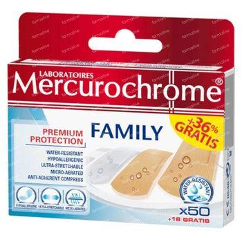 Mercurochrome Familiepleisters 50+18 st
