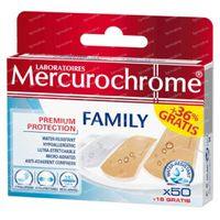 Mercurochrome Pansements Famille 50+18 st