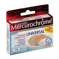 Mercurochrome Pansement Universal 10cm x 6cm 10+3 st