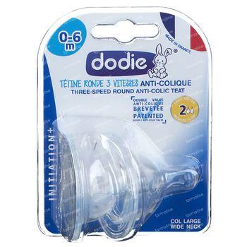 Dodie Tétine Initation+ 3 Vitesses Débit 1 2 pièces