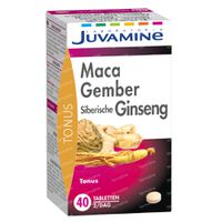 Juvamine Maca - Gember - Siberische Ginseng 40  tabletten