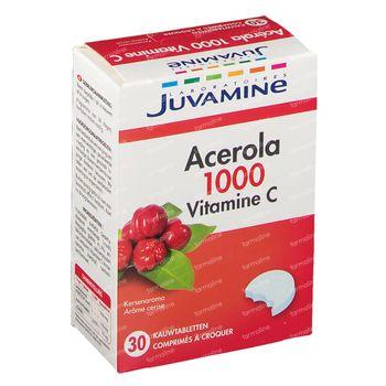 Juvamine Acerola 1000 Vitamine C Nouvelle Formule 30 comprimés à croquer