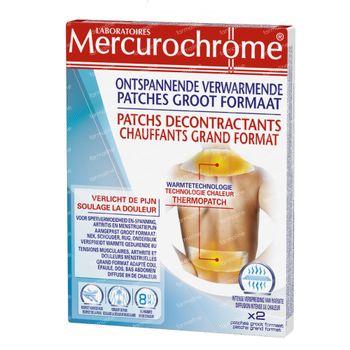 Mercurochrome Patchs Décontractants Chauffants 2 pièce