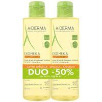 A-Derma Exomega Control Geschmeidigmachendes Duschöl DUO 2x500 ml