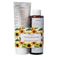 Korres KH Sunflower Farbschutz-Set - Mountain Tea Shampoo and Conditioner 1+1 GRATIS 1  shaker