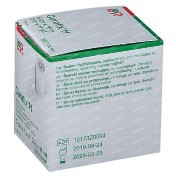Curafix H Pansement de Fixation Large 5cmx10m 1 pièce