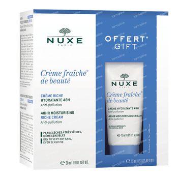 Nuxe Crème Fraîche de Beauté Peaux Sèches Gift Set 1 set
