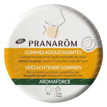 Pranarôm Aromaforce Bio Keelgommen Honing-Citroen 45 gommes à croquer
