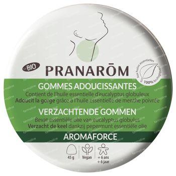 Pranarôm Aromaforce Bio Keelgommen Eucalyptus 45 gommes à croquer