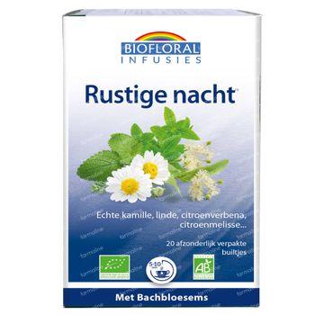 Biofloral Kruidenthee Rustige Nacht met Bachbloesems Bio 20 zakjes