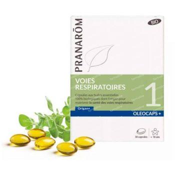 Pranarôm Oleocaps+ 1 Voies Respiratoires Bio 30 capsules