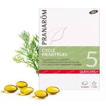 Pranarôm Oleocaps+ 5 Cycle Menstruel Bio 30 capsules