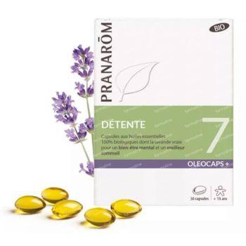 Pranarôm Oleocaps+ 7 Détente Bio 30 capsules