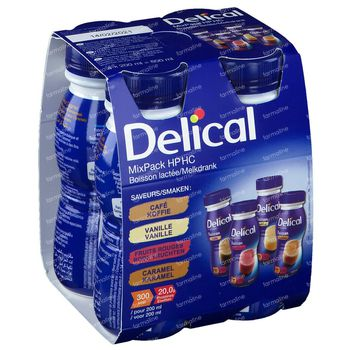 Delical HP-HC Drank Mixpack 4x200 ml