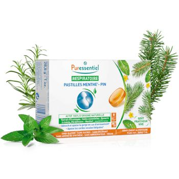 Puressentiel Ademhaling Pastilles Munt-Den 18 pastille