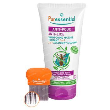 Puressentiel Anti-Poux Shampooing Traitant 2-en-1 avec Peigne 150 ml