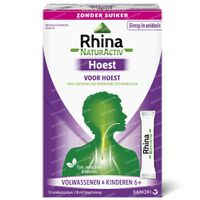 Rhina NaturActiv Hoest Volwassenen & Kinderen 6 Jaar+ zonder Suiker 12x10 ml unidosis
