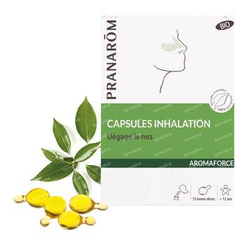 Pranarôm Aromaforce Inhalatiecapsules Bio 15 capsules d'inhalation
