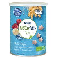 Nestlé NaturNes Bio NutriPops Gepofte Granen - Banaan & Framboos 35 g