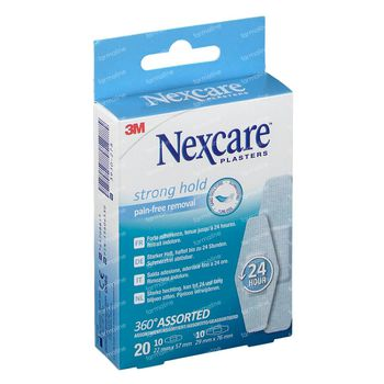 Nexcare Strong Hold 24h 360° Assortiment 20 pièces