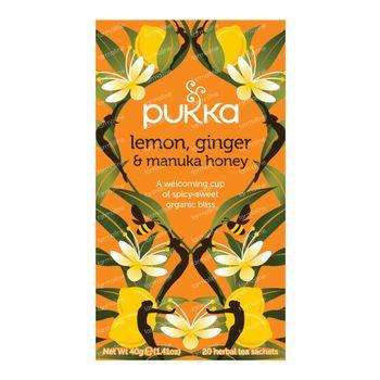 Pukka Herbs Thee Lemon & Ginger & Manuka Honey 20 stuks