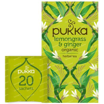 Pukka Herbs Thee Lemongrass & Ginger 20 stuks