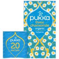 Pukka Herbs Thé Three Chamomile 20 pièces