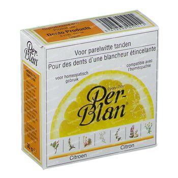 Perblan Poudre Dentifrice Citron 30 g