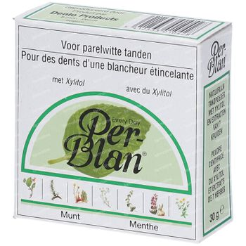Perblan Poudre Dentifrice Menthe 30 g