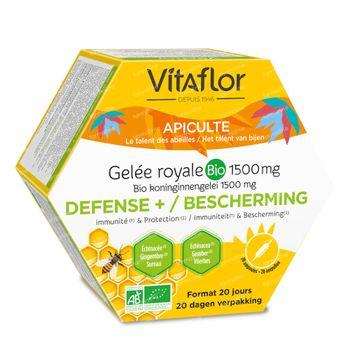 Vitaflor Gelée Royale Bio Defense+ 20 ampoules