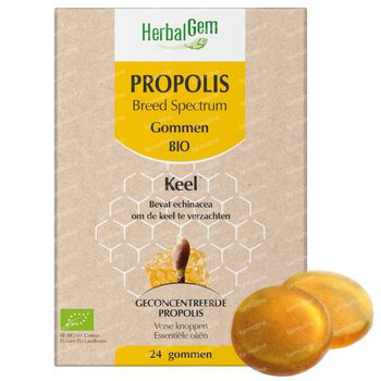 HerbalGem Propolis Breed Spectrum Bio 24 kauwgummies