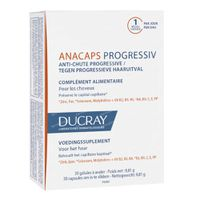 Ducray Anacaps Progressiv tegen Progressieve Haaruitval 30  capsules