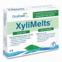 XyliMelts Plaktabletten Droge Mond Muntvrij 2x20  tabletten