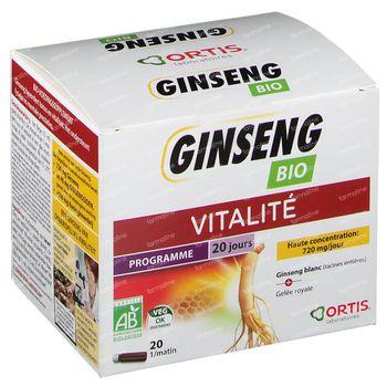 Ortis Ginseng Bio sans Alcool 20x15 ml