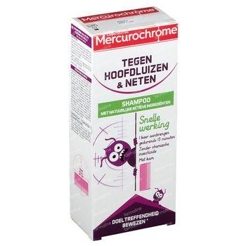 Mercurochrome Shampoing Anti-Poux & Lentes Actifs d'Origine Naturelle 125 ml
