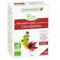 Superdiet Complex Circulation Marronnier d'Inde - Vigne rouge - Hamamélis - Ginkgo Bio 60  capsules