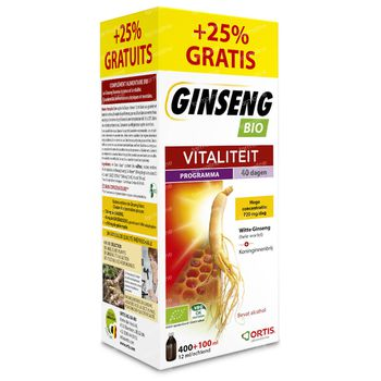 Ortis Ginseng Dynasty Imperial +100ml GRATUITEMENT 400 + 100 ml