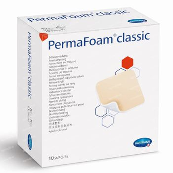 Hartmann Permafoam Classic Schuimverband 15x15cm 10 stuks