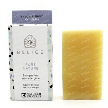 Bélice Pure Nature Koude Zeep Zonder Parfum Bio 100 g