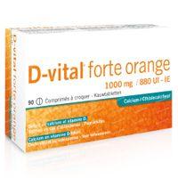 D-vital Forte Sinaas 1000mg/880IE Calcium 90  kauwtabletten