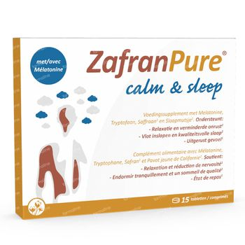 ZafranPure Calm & Sleep - Sommeil, Stress et Fatigue 15 comprimés