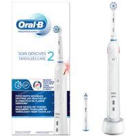 Oral B Professional 2 Soin Gencives Brosse à Dents Électrique Blanche 1  set